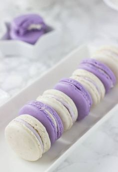 Honey Macarons Lavender Honey Macarons - beautiful spring macarons with hints of lavender and honey!Lavender Honey Macarons - beautiful spring macarons with hints of lavender and honey! 13 Desserts, Unique Desserts, Delicious Desserts, French Desserts, Cookie Recipes, Dessert Recipes, Pastries Recipes, Lavender Honey, Lavander