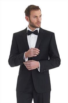 Ted Baker Endurance Tailored Fit Peak Lapel Dress Suit Black