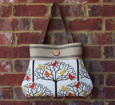 Birds on Branches Handbag by SweetPeaTotes on Etsy, $65.00