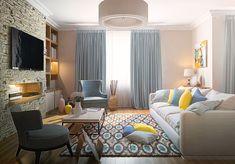 Гостиная в  цветах:   Бежевый, Белый, Светло-серый, Серый, Черный.  Гостиная в  стиле:   Неоклассика.