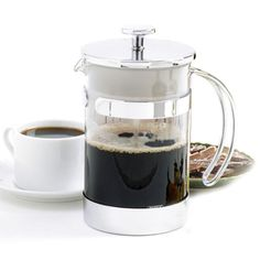 We love this stainless steel, sleek and modern Norpor French Press!