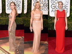 FASHION WORLD NEWS RED CARPET TRENDS 11.1.2016....All the Best Fashion Trends at the Golden Globes: Jennifer Lawrence, Brie Larson, and More