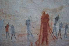 Rock art at Bushman's Kloof, South Africa - photo taken by Cathy