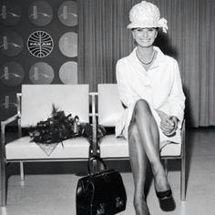 Audrey Hepburn waiting to fly PAN AM