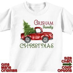 Personalized Christmas Family Matching Retro Truck Tree