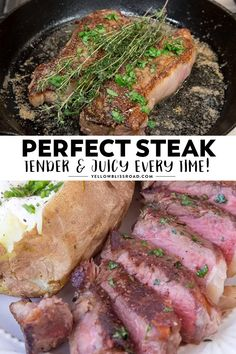 The Easiest Juiciest Steak Recipe Ever There's nothing quite like a delicious, juicy steak. I've got some great tips that I've learned over the years that will help you get the PERFECT steak every time. Steak Recipes Stove, Steak On Stove, Meat Recipes, Dinner Recipes, Cooking Recipes, Healthy Recipes, Recipies, Pan Seared Steak, Perfect Steak