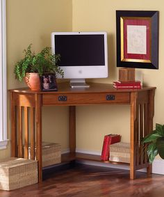 Oxford 50W Corner Computer Desk  Standard Desks  Home Office