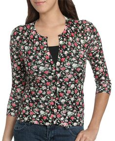 Flower Printed Cardigan from WetSeal.com