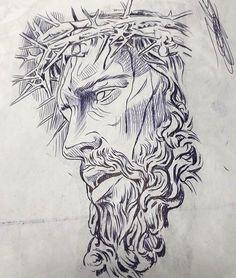 Jesus Tattoo Design, Angel Tattoo Designs, Tattoo Design Drawings, Tattoo Sleeve Designs, Tattoo Sketches, Chicano Art Tattoos, Body Art Tattoos, 3d Tattoos, Tattoo Crane