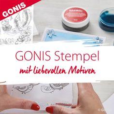 Die GONIS Stempel sind liebevoll ausgewählte, handgezeichnete und exklusive Motive designed by GONIS. Diy, Stamping, Creative Ideas, Decorating, Christmas, Bricolage, Do It Yourself, Homemade, Diys