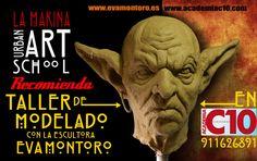 Cartel promo del Blog LA MAKINA Escuela de arte urbano,Eva Montoro   para facebook. Ignacio Junquera
