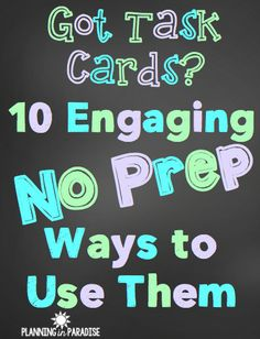 Got task cards? Here are some great way to use them!