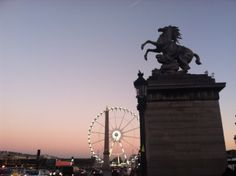 At the end of Champs Elysees