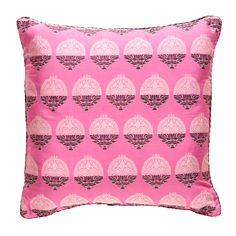 Hot Pink Bellini Brocade Pillow Madeline Weinrib Obsession
