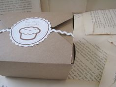 Hey There, Cupcake Boxes. $14.00, via Etsy.