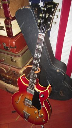 Vintage 1965 Gibson Barney Kessel Electric Guitar Sunburst Clean Original OHSC