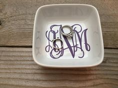 Excited to share this item from my shop: Monogrammed Jewelry Dish Jewelry Dish Wedding Gifts Personalized Gifts for Bridesmaids Rehearsal Dinner Wedding Party Gifts Wedding - August 03 2019 at Monogram Ring Dish, Monogram Jewelry, Wedding Gifts For Couples, Personalized Wedding Gifts, Personalized Jewelry, Personalized Products, Christmas Gifts For Her, Gifts For Mom, Holiday Gifts