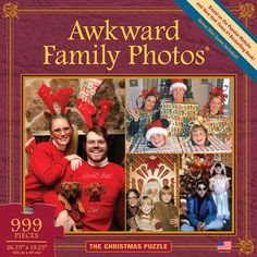 Awkward Family Photos Christmas 999 Piece Puzzle: From the hit website, AwkwardFamilyPhotos.com, and the makers of the Awkward Family Photos board game comes a puzzle that will provide hours of cringe-worthy amusement for you, your friends and your own awkward family!  http://www.calendars.com/All-Things-Equal/Awkward-Family-Photos-Christmas-999-Piece-Puzzle/prod201300007344/?categoryId=cat340004=cat340004