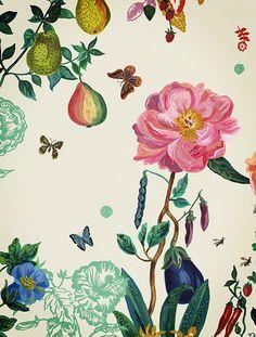 Flower wallpaper by Nathalie Lété.  nathalie-lete.com