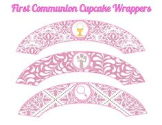 First Communion Cupcake Wrappers INSTANT by ATimeToRememberDPK