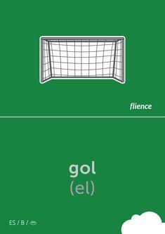 Gol #flience #sport #soccer #english #education #flashcard #language Spanish Flashcards, Vocabulary, Soccer, Language, English, Goals, Education, Website, Sports