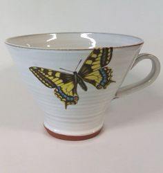 Butterfly mug by zzaga on Etsy, $43.00