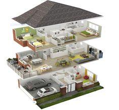 House Floor Design, Sims 4 House Design, Small House Interior Design, Home Room Design, Tiny House Design, Modern House Design, Sims House Plans, House Layout Plans, Small House Plans