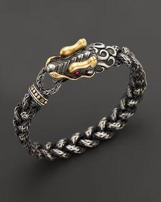 John Hardy Naga Silver Dragon-Head Bracelet PTmVCsYv