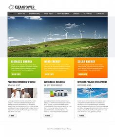 Clean Power Moto CMS HTML Templates by Hugo