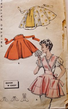 1950s Quick N Easy Dainty Aprons Butterick by BluetreeSewingStudio, $25.00