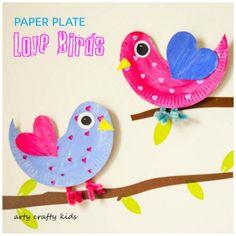 sc 1 st  Pinterest & Paper Plate Love Birds   Crafty kids Crafty and Bird