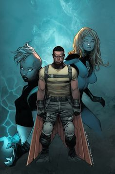 Survive #1 - Falcon, Storm, and Sue Storm by Olivier Coipel *