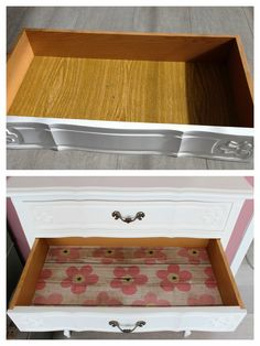 Lily en Woody: Kringloopgeluk - drawers lined with Lola adhesive foil