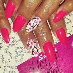 Cherry blossoms nail art