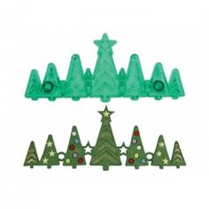 Cookie Cutters Precise Jem Set Of 8 3d Christmas Trees Xmas Cutters Icing Sugarcraft Cake Decoration Home & Garden