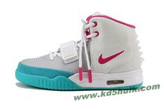 Nike Air Yeezy II Women Shoes White Blue