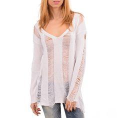 White knit blouse Agel Knitwear 35,00€ #blouse #knit #women #fashion