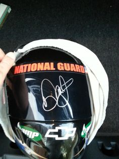 Helmet signed by Dale Jr.Driven To Give/Dale Jr Foundation Dinner.