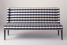 Dining Room. Dining Room Banquette Which Slicked Up With Vintage Black And White Plaid Patterned Fabric Upholstery Which Combined With Black Painted Solid Wood Legs. Memorable Upholstered Dining Bench With Back Design Ideas