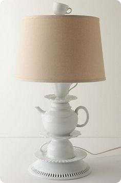 one-lump-or-two base for lamp - love the demitasse cup for a lamp finial