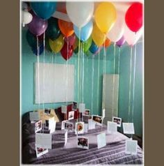 wonderful! Birthday Idea - Attach a balloon to a picture from every year in their life. Pretty cool!