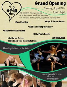 Open Arts Grand Opening Celebration Morrisville, NC #Kids #Events