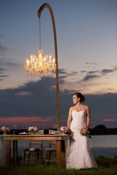 Chandelier|Country Themed, Styled Anniversary Shoot|Photographer:  David Pezzat Photographers