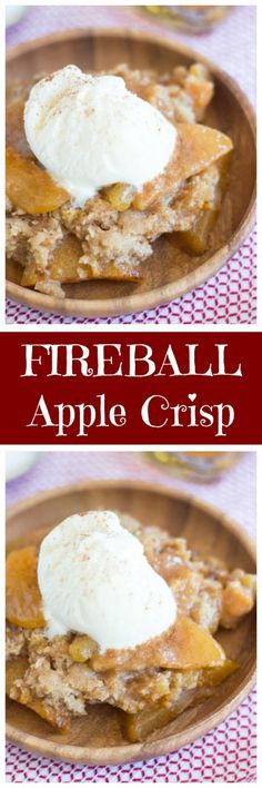 fireball apple crisp classic apple crisp spiked with fireball whiskey ...