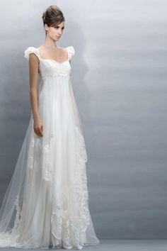 Ravishing Empire Wedding Dresses with Capped Sleeve fairy