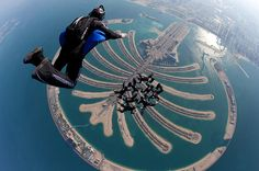 Sky Dive is one of the amazing things to do in Dubai.