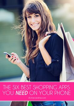 Whether you're shopping online, planning your outfits, or looking for a mystery dress, these 6 apps will help you do it efficiently and happily. #Shopping #Apps