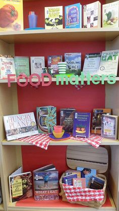 Food Matters library display by Colette Cassinelli, via Flickr