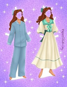 Clothes for Anya (Anastasia) paper doll