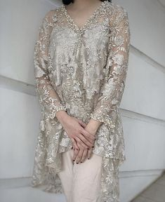 Kebaya Lace, Kebaya Brokat, Kebaya Dress, Dress Brokat Modern, Modern Kebaya, After Wedding Dress, Filipino Fashion, Walima Dress, Eid Outfits